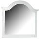 All-American Lodge Collection Landscape Mirror in Snow White
