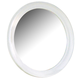 All-American Lodge Collection Round Mirror in Snow White
