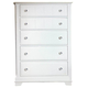 All-American Lodge Collection 5-Drawer Chest in Snow White