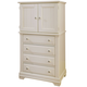 All-American Lodge Collection 4-Drawer Vanity Chest in Creamy White