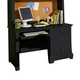 All-American Cottage Collection 3-Drawer Computer Desk with Pull Out Tray in Black