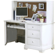 All-American Cottage Collection 3-Drawer Computer Desk with Pull Out Tray in Snow White