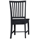All-American Cottage Collection Wooden Desk Chair in Black