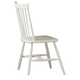 All-American Cottage Collection Wooden Desk Chair in Snow White