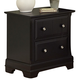 All-American Lodge Collection 2-Drawer Night Stand in Black
