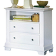 All-American Cottage Collection 2-Drawer Commode in Snow White