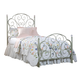 Standard Furniture Spring Rose Twin Metal Bed in White Pearlescent 50283
