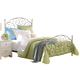 Standard Furniture Spring Rose Full Metal Bed in White Pearlescent 50281