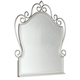 Standard Furniture Spring Rose Metal Mirror w/ Beveled Glass in White Pearlescent 50288