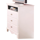 Standard Furniture Spring Rose TV Chest in White Pearlescent 50256