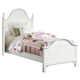 All-American Lodge Collection Twin Panel Bed in Snow White