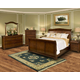 New Classic Whitley Court Sleigh Bedroom Set in Tobacco