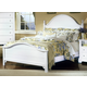 All-American Cottage Collection California King Panel Bed in Snow White