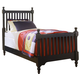 All-American Cottage Collection Twin Slat Poster Bed in Black