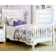 All-American Cottage Collection Full Slat Poster Bed in Snow White