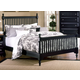 All-American Lodge Collection Queen Slat Poster Bed in Black