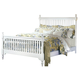 All-American Lodge Collection Queen Slat Poster Bed in Snow White