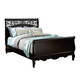 Standard Furniture Madera Queen Sleigh Bed in Ebony Black 54552