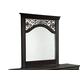 Standard Furniture Madera Panel Mirror in Ebony Black 54568