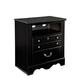 Standard Furniture Madera TV Chest w/ Marbella Top in Ebony Black 54556