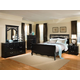 Standard Furniture Madera Sleigh Bedroom 4pc Set in Ebony Black