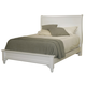 All-American Lodge Collection Twin Sleigh Profile Bed in Snow White