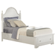 All-American Lodge Collection Twin Panel Storage Bed in Snow White