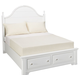 All-American Lodge Collection Full Panel Storage Bed in Snow White