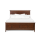 Magnussen Furniture Harrison Cal King Panel Bed with Storage Rails in Cherry B1398-74SR