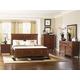 Magnussen Furniture Harrison 4-Piece Panel Bedroom Set in Cherry
