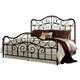 Standard Furniture Santa Cruz King Metal Bed in Cherry 56226