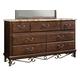 Standard Furniture Santa Cruz Seven Drawer Dresser w/ Marbella Top in Cherry 56209