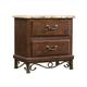 Standard Furniture Santa Cruz Nightstand w/ Marbella Top in Cherry 56207
