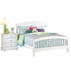 New Classic Bayfront Full Slat Bed in White Painted Finish 1415-413