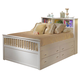 New Classic Bayfront Full Captain's Storage Bed with No Drawers under bed in White Painted Finish 1415-417