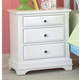 New Classic Bayfront 3 Drawer Nighstand in White Painted Finish 1415-040