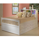 New Classic Bayfront Captain's Storage Bedroom Set in White Painted Finish 1415
