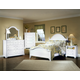 All-American Cottage Collection Panel Bedroom Set in Snow White