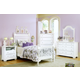 All-American Cottage Collection Slat Poster Bedroom Set E in Snow White