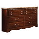 Standard Furniture Triomphe Six Drawer Dresser w/ Marbella Top in Cherry 57209