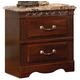 Standard Furniture Triomphe Nightstand w/ Marbella Top in Cherry 57207
