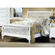 All-American Lodge Collection Slat Poster Bedroom Set G in Snow White