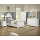 Vaughan-Basset Cottage Collection Panel Storage Bedroom Set in Snow White