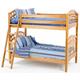 New Classic Casual Oak Youth Twin/Twin Bunk Bed in Light Oak Finish BK0094B