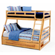 New Classic Casual Oak Youth Full/Twin Bunk Bed in Light Oak Finish BK0095