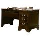 Vaughan-Bassett Louis Collection 3-Drawer Computer Desk in Merlot