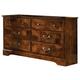 Standard Furniture San Miguel Six Drawer Dresser w/ Marbella Top in Lafayette Oak 51109