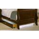 Vaughan-Bassett Louis Collection Under Bed Storage Box in Merlot
