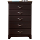 Standard Furniture Crossroads Five Drawer Chest in Cherry 57655