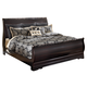 Esmarelda King Sleigh Bed in Dark Merlot